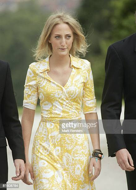 Princess Maria Louisa of Belgium attends a press photocall at Laeken Castle on June 17 2008 in Brussels Belgium