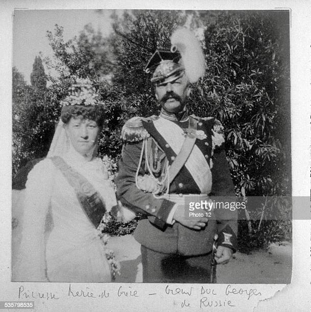 Princess Maria of Greece and her husband Grand Duke George of Russia Married in 1900 on Corfu
