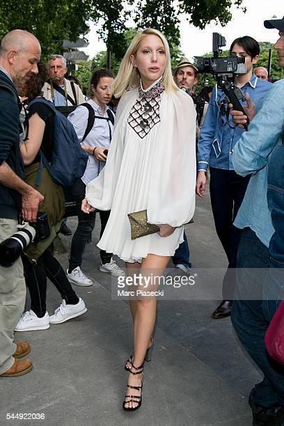 Princess Maria Olympia attends the Giambattista Valli Haute Couture Fall/Winter 20162017 show as part of Paris Fashion Week on July 4 2016 in Paris...