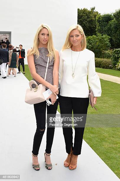 Princess Maria Olympia of Greece and Crown Princess Marie Chantal of Greece attend the Christian Dior show as part of Paris Fashion Week - Haute...