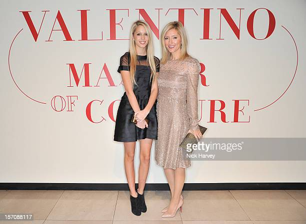 Princess Maria Olympia of Greece and Crown Princess MarieChantal of Greece attend the VIP view of Valentino Master of Couture at Embankment Gallery...