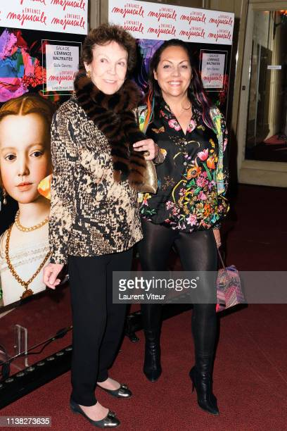 Princess Maria Pia de Savoie and Princess Hermine de ClermontTonnerre attend Enfance Majuscule Charity Gala At Salle Gaveau on March 25 2019 in Paris...