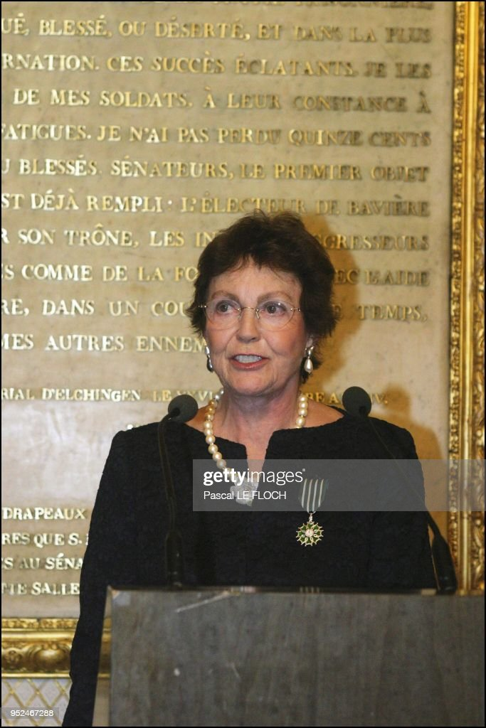 Princess Maria Pia of Savoy newly dubbed knight of Arts and Letters. : News Photo