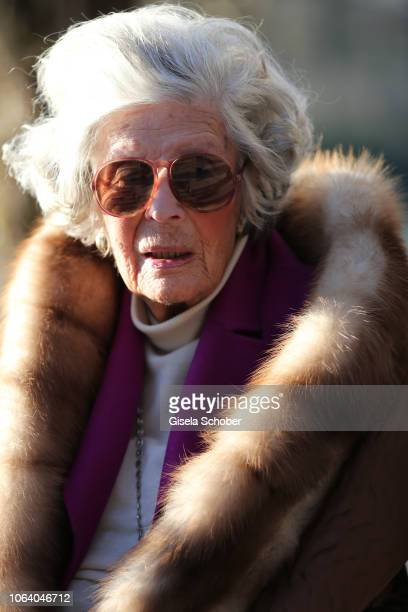Princess Marianne Manni zu SaynWittgensteinSayn known as photographer Mamarazza poses during a photo shooting ahead of her 99th birthday on Dezember...