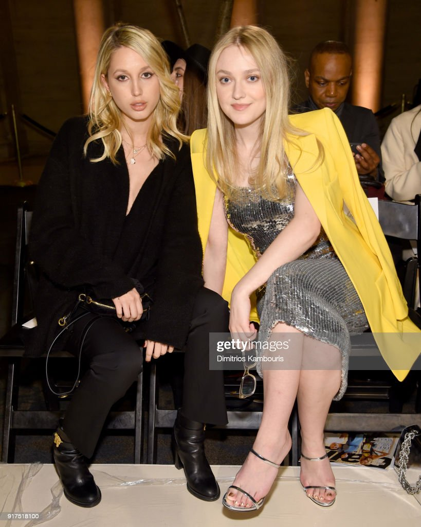 Princess Maria-Olympia of Greece and Denmark and Actor Dakota Fanning attend the Oscar De La Renta fashion show during New York Fashion Week: The Shows at The Cunard Building on February 12, 2018 in New York City.