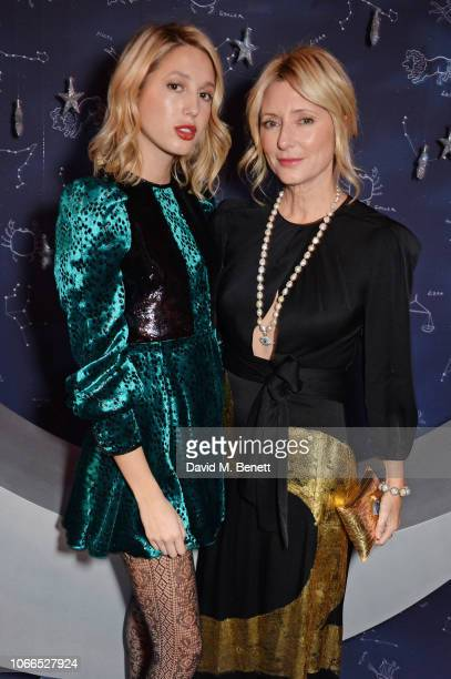 Princess MariaOlympia of Greece and Denmark and MarieChantal Crown Princess of Greece attend the Claridge's Zodiac Party hosted by Diane von...