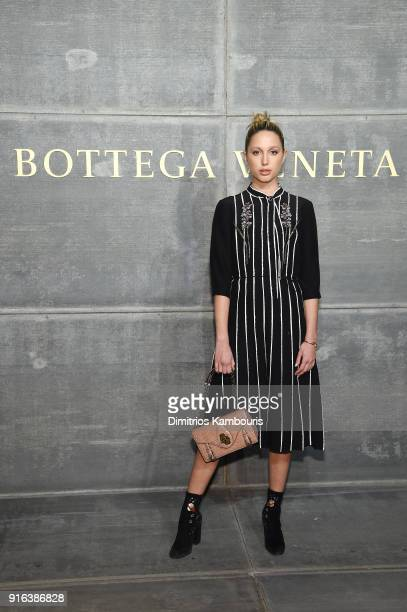 Princess MariaOlympia of Greece and Denmark attends the Bottega Veneta Fall/Winter 2018 fashion show at New York Stock Exchange on February 9 2018 in...