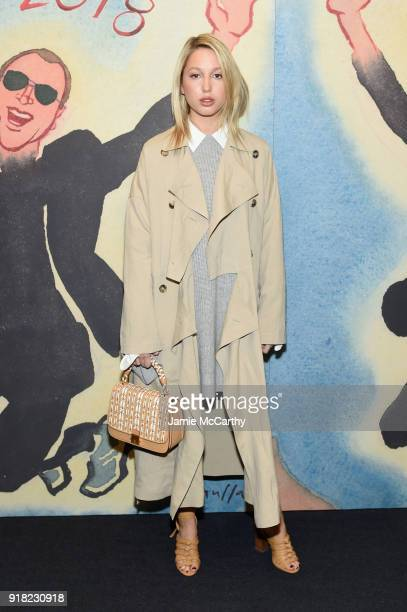 Princess MariaOlympia of Greece and Denmark attends the Michael Kors Collection Fall 2018 Runway Show at Vivian Beaumont Theatre at Lincoln Center on...