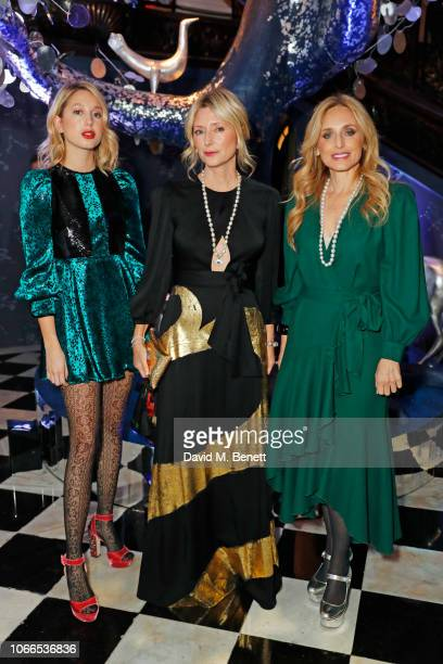 Princess MariaOlympia of Greece and Denmark MarieChantal Crown Princess of Greece and Pia Getty attend the Claridge's Zodiac Party hosted by Diane...