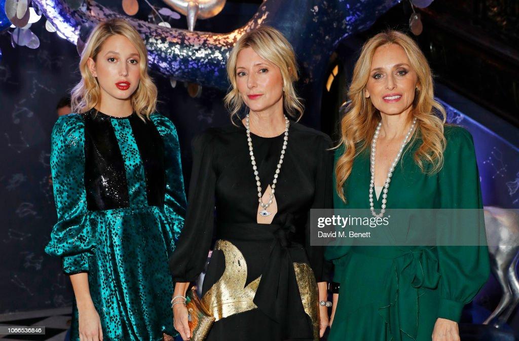 Claridge's Zodiac Party Hosted By Diane von Furstenberg & Edward Enninful To Celebrate The Claridge's Christmas Tree 2018 : News Photo