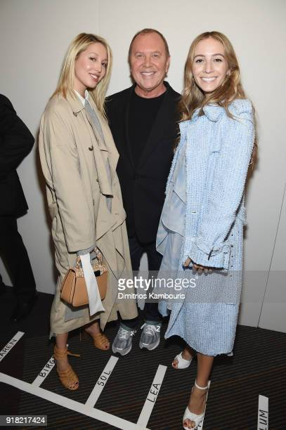 Princess MariaOlympia of Greece and Denmark Michael Kors and Harley VieraNewton attend the Michael Kors Collection Fall 2018 Runway Show at Vivian...