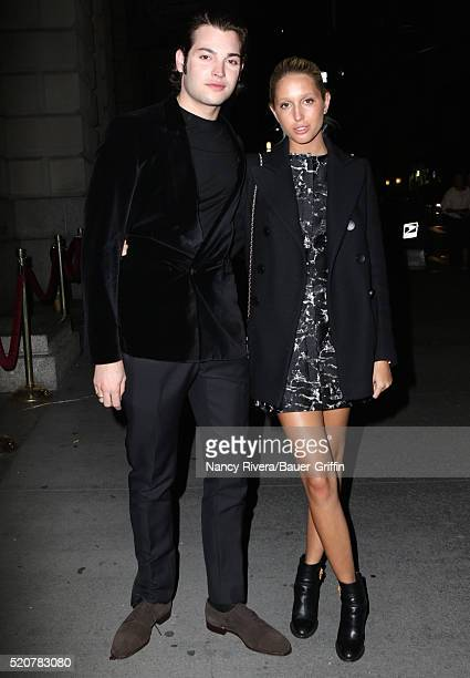 Princess MariaOlympia of Greece and Peter Brandt Jr are seen on April 12 2016 in New York City