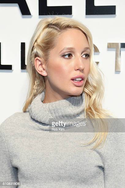 Princess MariaOlympia of Greece attends the Michael Kors show during Fall 2016 New York Fashion Week The Shows at Spring Studios on February 17 2016...