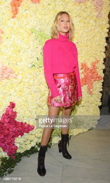 Princess MariaOlympia of Greece attends the Schiaparelli Haute Couture Spring Summer 2019 show as part of Paris Fashion Week on January 21 2019 in...