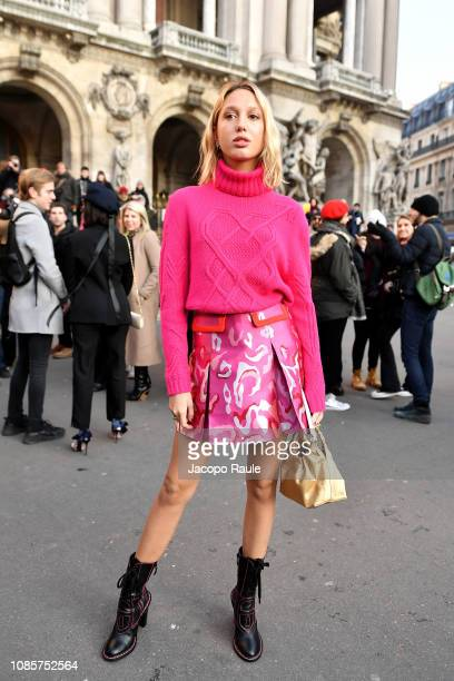 Princess MariaOlympia of Greece is seen arriving at Schiaparelli show on January 21 2019 in Paris France