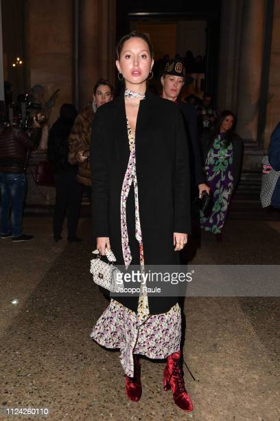 Princess MariaOlympia of Greece is seen arriving at Valentino fashion show during Paris Fashion Week Haute Couture Spring Summer 2020 on January 23...