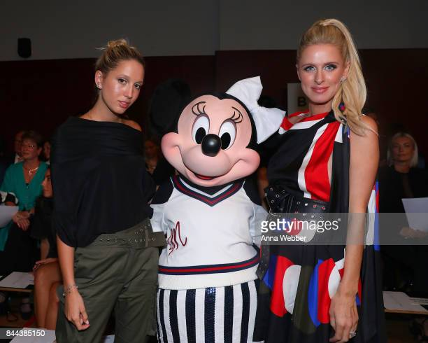Princess MariaOlympia of Greece Minnie Mouse wearing custom Monse look and Nicky Hilton attend Monse SS18 NYFW show at The Eugene on September 8 2017...