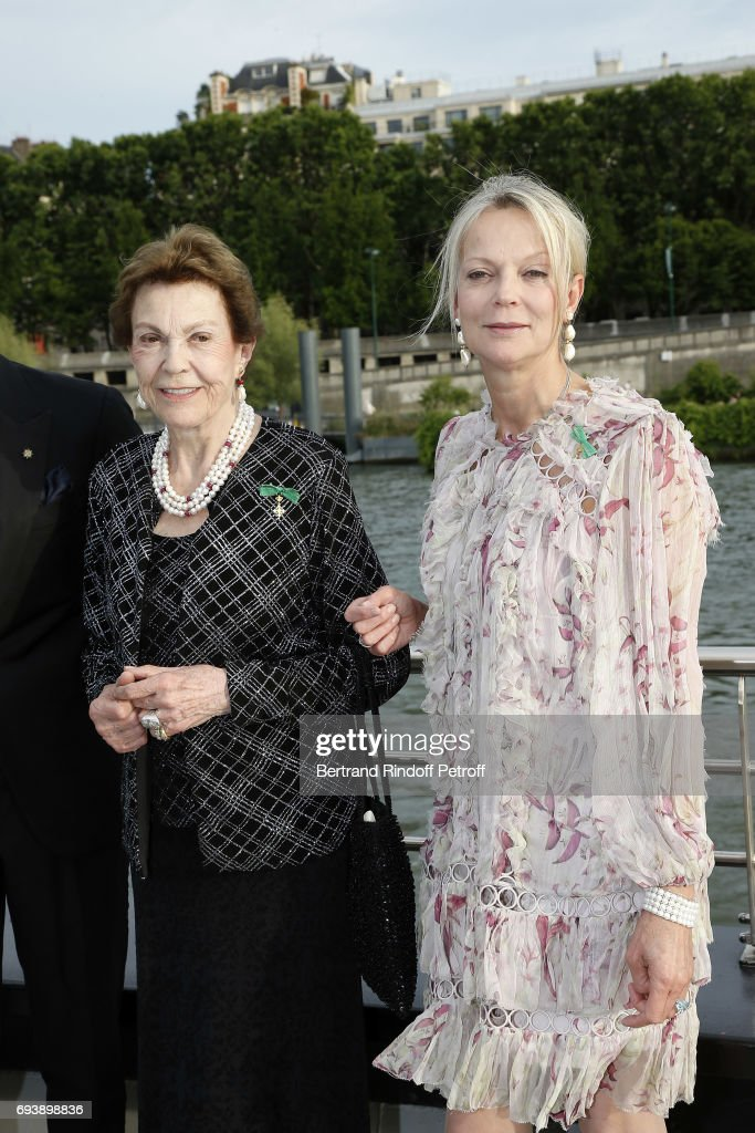 Princess Maria-Pia de Savoy Bourbon and Princess Helene de Yougoslavie attend Charity Gala to Benefit the 'Chretiens D'Orient' on June 8, 2017 in Paris, France.