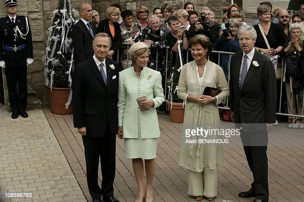 Princess Marie Astrid of Luxembourg and husband Christian of Habsbourg, Princess Margaretha and husband Prince Nicolas of Liechtenstein in Luxembourg...