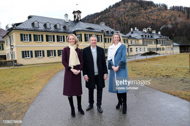 Princess Marie Caroline von Wuerttemberg, new owner Korbinian Kohler and Duchess Anna in Bayern . Korbinian Kohler, the Bachmair Weissach hotelier...