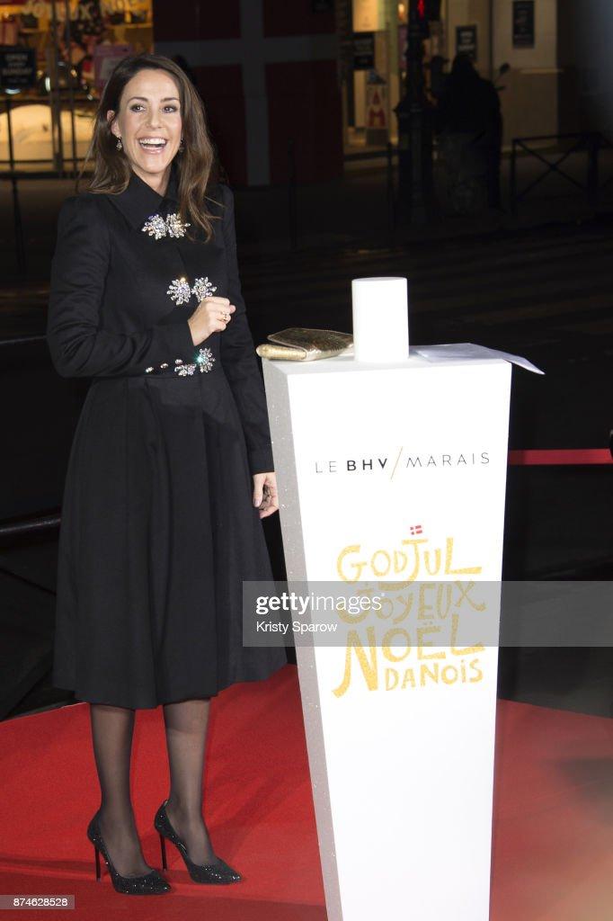 Princess Marie Cavallier of Denmark attends the Godjul Joyeux Noel Danois Christmas Decorations Inauguration at BHV Marais on November 15, 2017 in Paris, France.