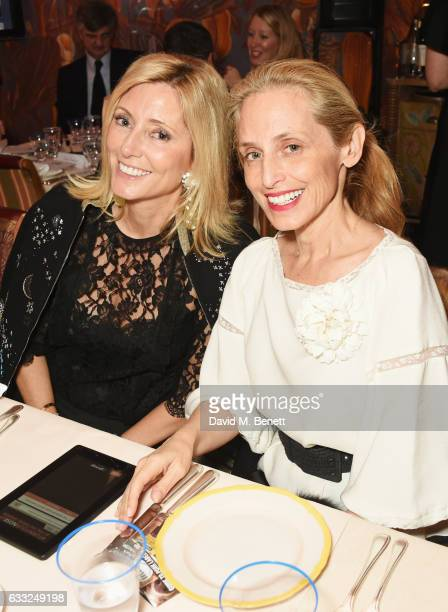 Princess Marie Chantal of Greece and Pia Getty attend the Farms Not Factories #TurnYourNoseUp at Pig Factories benefit dinner 'Upstairs' at 5...