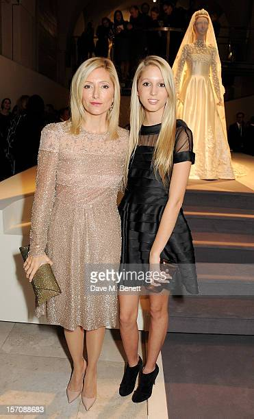 Princess Marie Chantal of Greece and Princess Maria Olympia of Greece attend a private view of 'Valentino Master Of Couture' exhibiting from November...