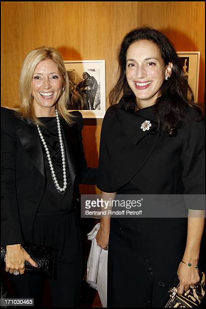 Princess Marie Chantal of Greece and Princess Olga of Greece at Exhibition Opening Of Yul Brynner's 'A Photographic Journey' At Galerie Du Passage In...