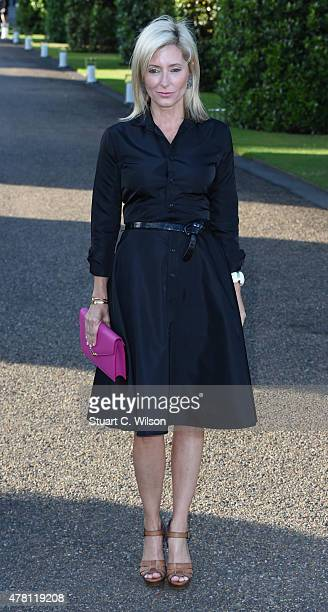 Princess Marie Chantal of Greece attends the Vogue and Ralph Lauren Wimbledon party at The Orangery on June 22 2015 in London England