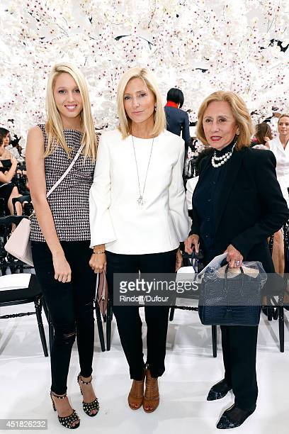 Princess Marie Chantal of Greece standing between her daughter Princess Maria Olympia of Greece and her mother Princess of Greece attend the...