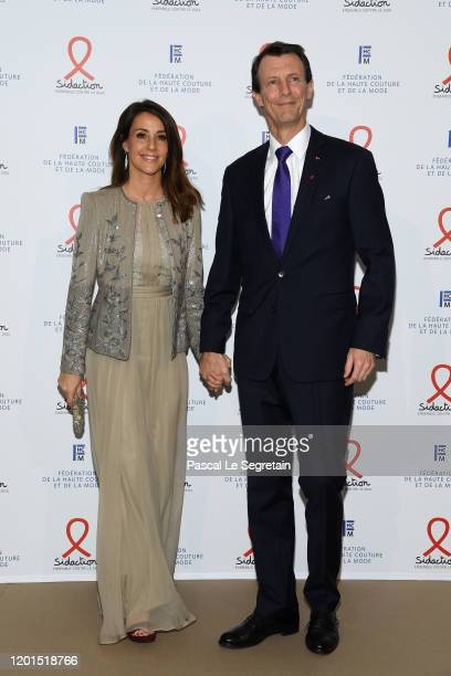 Princess Marie of Danemark and Prince Joachim of Danemark attend Sidaction Gala Dinner 2020 At Pavillon Cambon on January 23 2020 in Paris France