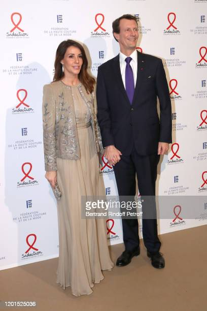Princess Marie of Danemark and Prince Joachim of Danemark attend the Sidaction Gala Dinner 2020 at Pavillon Cambon on January 23 2020 in Paris France