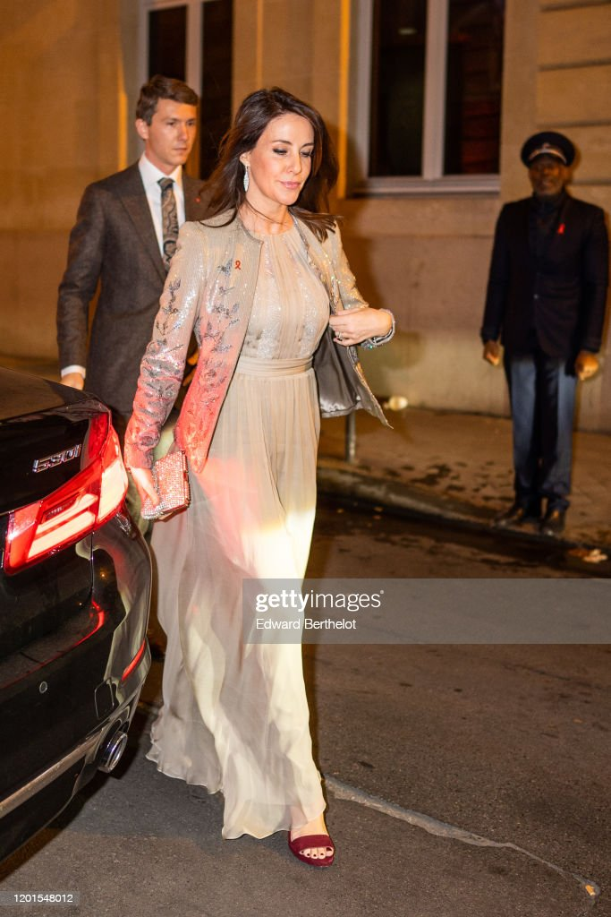 Sidaction Gala Dinner 2020 : Outside Arrivals At Pavillon Cambon In Paris : News Photo