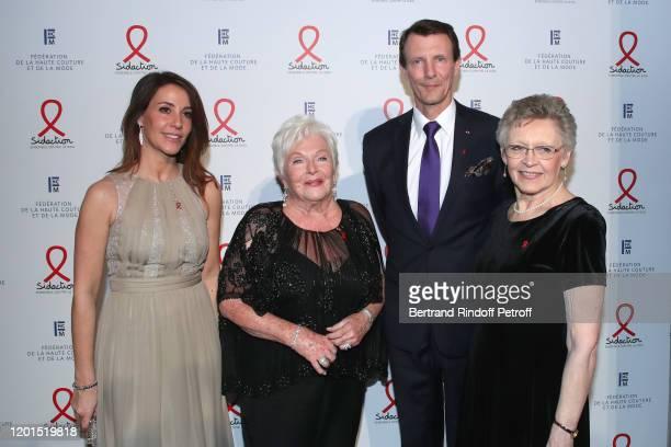 Princess Marie of Danemark Line Renaud Prince Joachim of Danemark and Nobel Price Francoise BarreSinoussi attends the Sidaction Gala Dinner 2020 at...