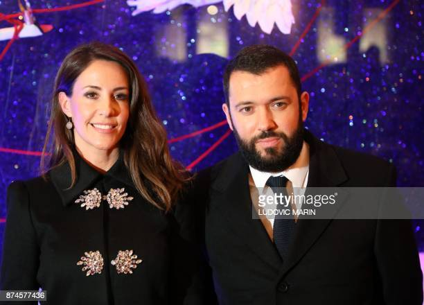 Princess Marie of Denmark and BHV Director Alexandre Liot pose at BHV Marais in Paris on November 15 as the Christmas lights were turned on at the...
