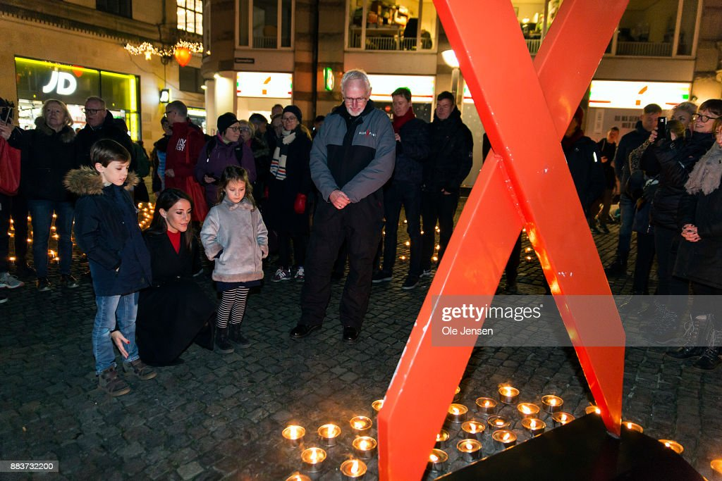 Princess Marie Of Denmark Lights Candle Lights In Remembrance Of World Aids Day