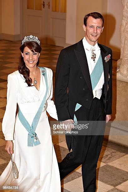 Princess Marie of Denmark and Prince Joachim of Denmark attend day one of Queen Margrethe 70th birthday celebrations on April 13 2010 in Copenhagen...