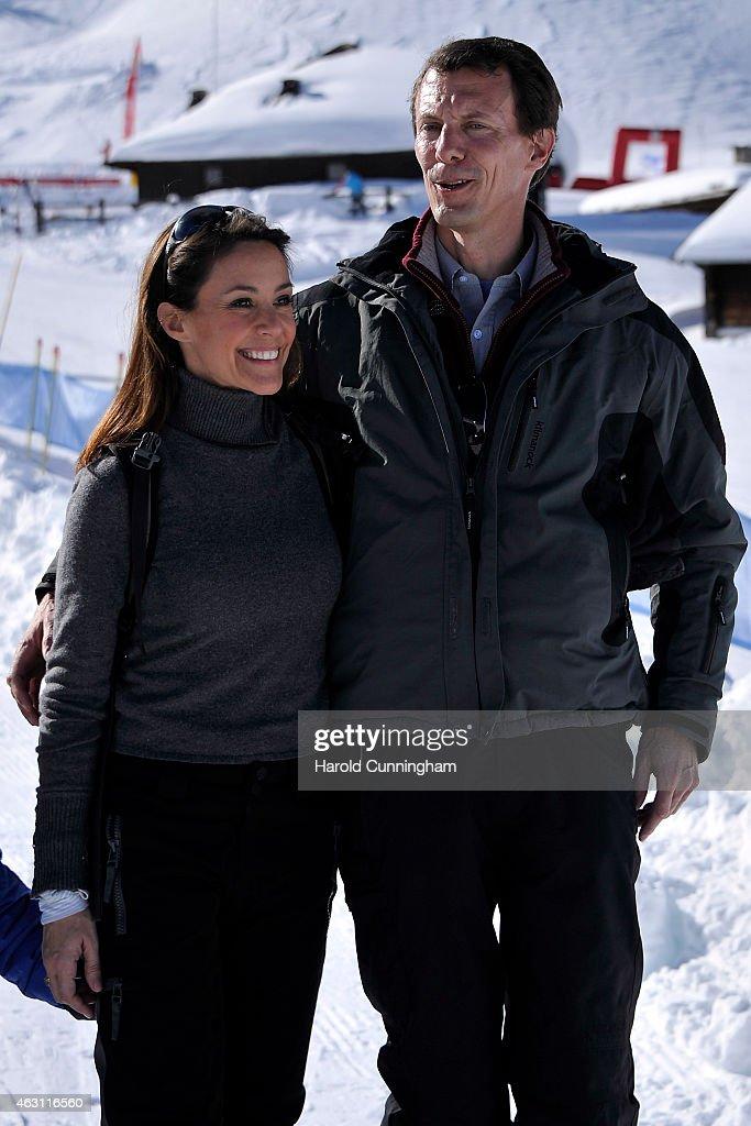 Prince Joachim and Princess Marie of Denmark Hold Annual Skiing Photocall In Col-de-Bretaye : News Photo