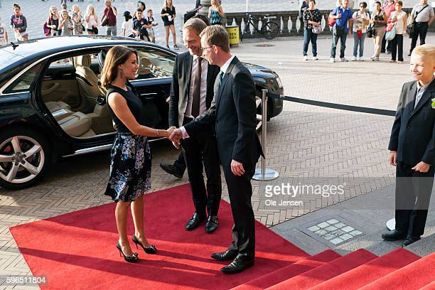 Princess Marie of Denmark arrives to the international food summit 'Better Food For More People' opening ceremony and gala dinner at Copenhagen City...