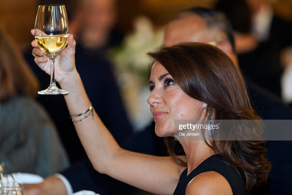 Princess Marie of Denmark attends the international food summit 'Better Food For More People' opening ceremony and gala dinner at Copenhagen City Hall in Denmark on August 25, 2016.