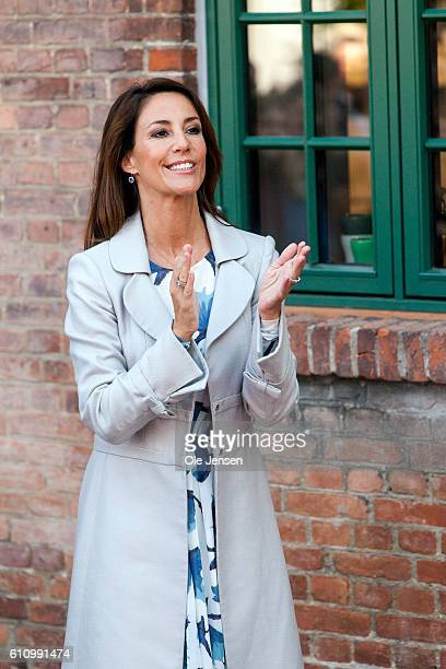 Princess Marie of Denmark attends the opening ceremony of old ceramic art company Kähler's new head quarter and historic exhibition in Naestved on...