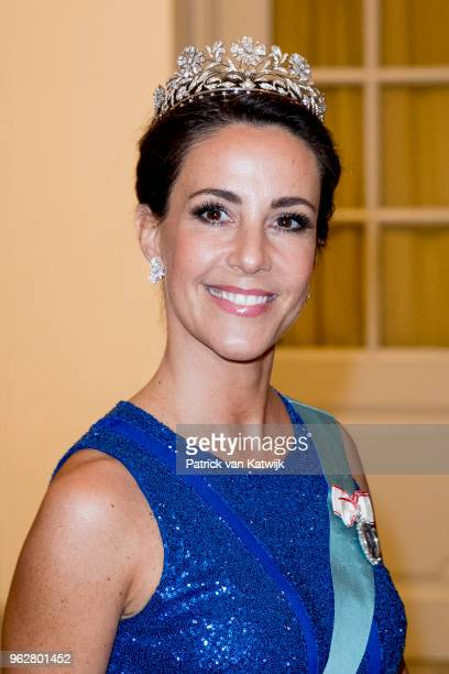 Princess Marie of Denmark during the gala banquet on the occasion of The Crown Prince's 50th birthday at Christiansborg Palace Chapel on May 26, 2018...