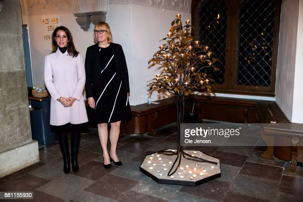 Princess Marie of Denmark poses together with General Secretary Birgitte QvistSoerensen at Dan Church's Christmas event for the world's poorest at...