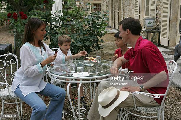 Princess Marie of Denmark Prince Felix Prince Nikolai and Prince Joachim of Denmark spend their summer holidays at the family home at Chateau Caix on...