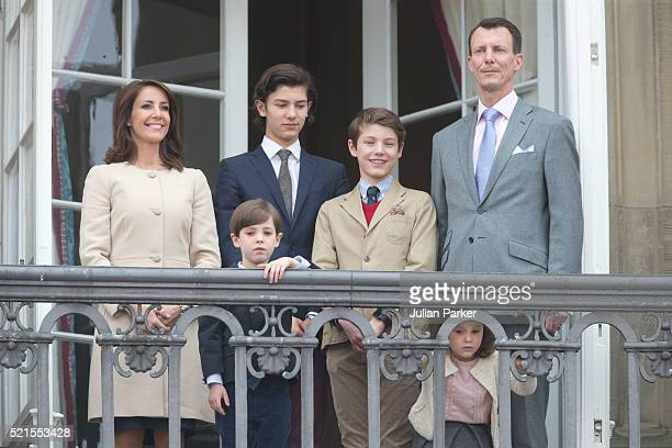 Princess Marie of Denmark Prince Henrik Prince Nikolai of Denmark Prince Felix Princess Athenaand Prince Joachim of Denmark attend Queen Margrethe II...