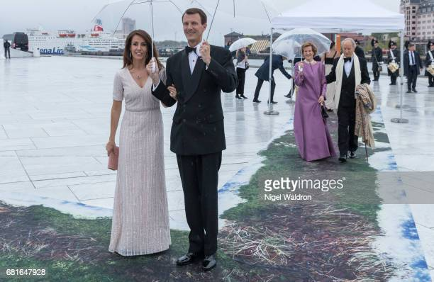 Princess Marie of Denmark Prince Joachim of Denmark arrives at the Opera House on the occasion of the celebration of King Harald and Queen Sonja of...