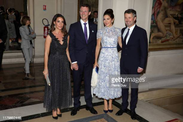 Princess Marie of Denmark, Prince Joachim of Denmark, Crown Princess Mary of Denmark and Crown Prince Frederik of Denmark attend a Grand dinner at...