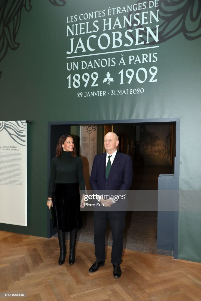 "Princess Marie of Denmark Visits the ""Les Contes Etranges De Niels Hansen Jacobsen"" At Musee Bourdelle In Paris : News Photo"