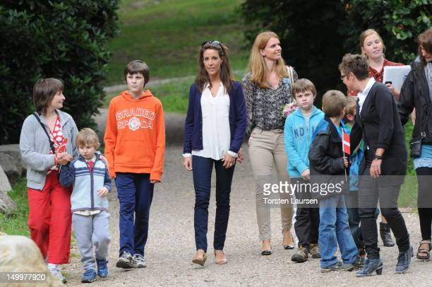 Princess Marie of Denmark visits the National Association for Autism Elsinore Holiday Village on August 8 2012 in Helsingor Denmark