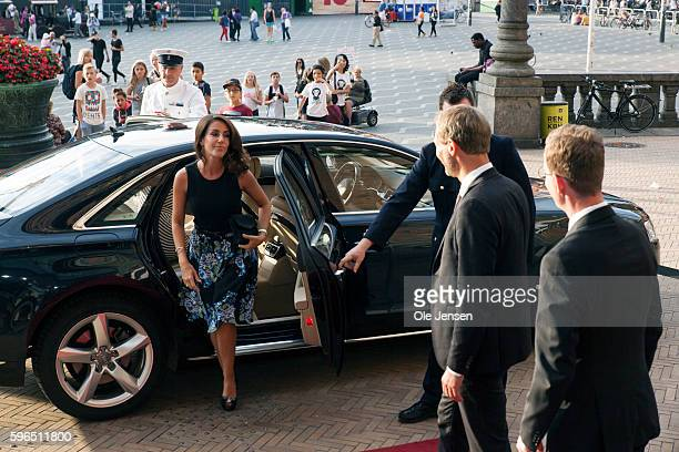 Princess Marie of Denmarkarrives to the international food summit 'Better Food For More People' opening ceremony and gala dinner at Copenhagen City...